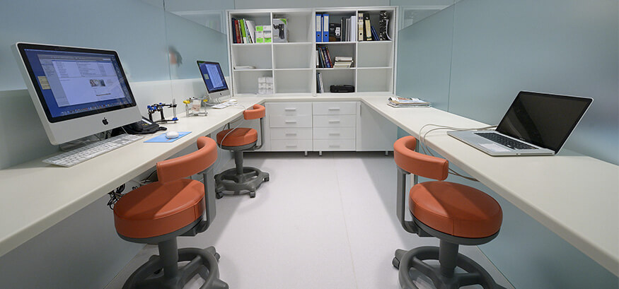 Sala diagnostico realizada en Krion®.
